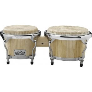 Remo Crown Bongos - Natural Finish CRP78000