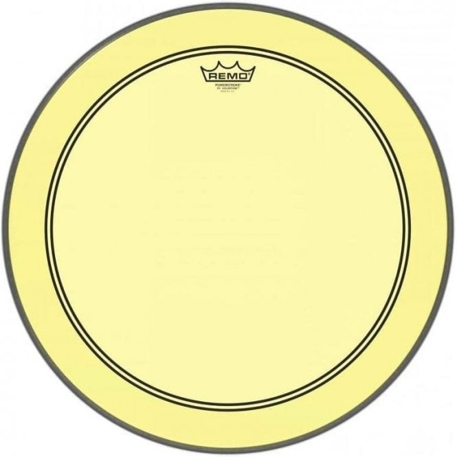 Remo Powerstroke 3 Colortone Yellow Bass Drum Heads