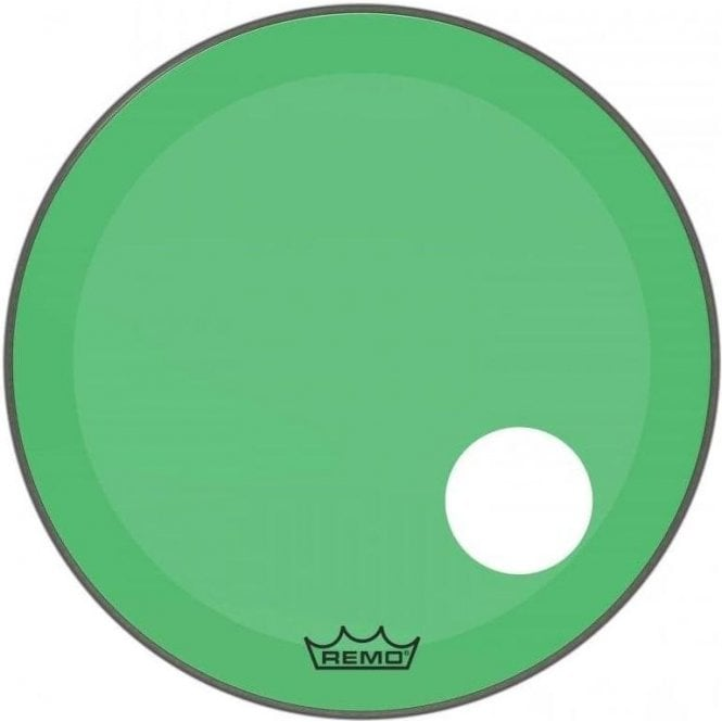 Remo Powerstroke 3 Green Colortone Display Bass Drum Heads