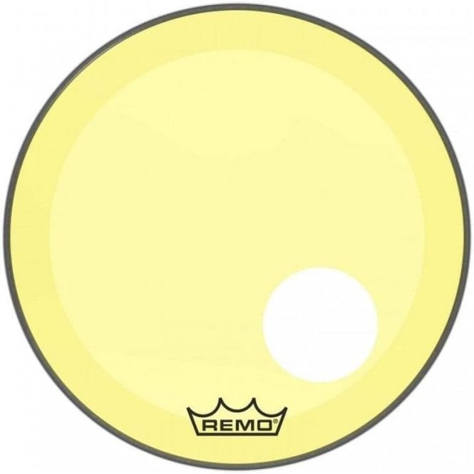 Remo Powerstroke 3 Yellow Colortone Display Bass Drum Heads