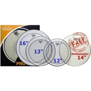 "Remo ProPack 12"", 13"", 16"" Pinstripe Clear"