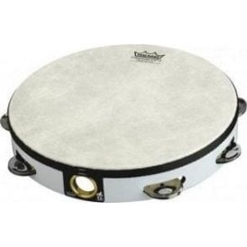 "Remo TA510800 Tambourine 8"" Single Row Jingles White Finish"