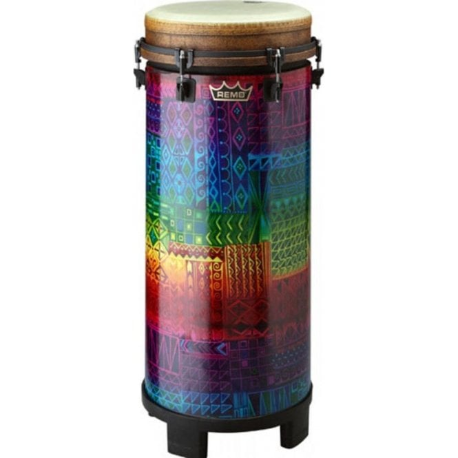 "Remo Tubano 10"" Key Tuned Rainbow Finish"