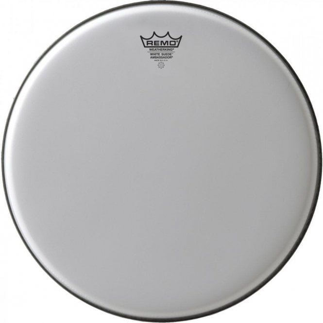 Remo White Suede Ambassador Drum Heads