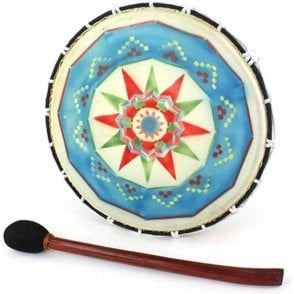 "Shamanic Drum - Painted Medium 12"" Including Mallet"
