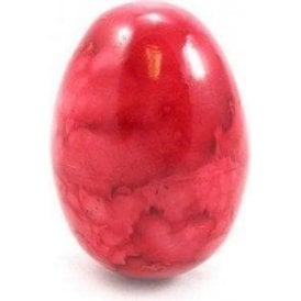 Wooden Egg Shaker Tie Dyed Red