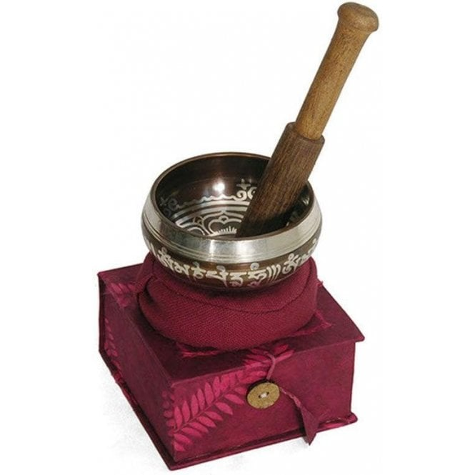 Singing Bowl Set In Box With Cushion