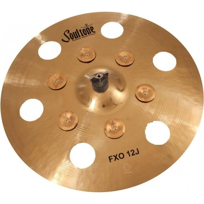 "Soultone FXO Effect 16"" 12 hole with jingles Cymbal 
