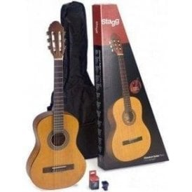 Stagg 3/4 Classical Guitar Inc Gig Bag - Natural Finish
