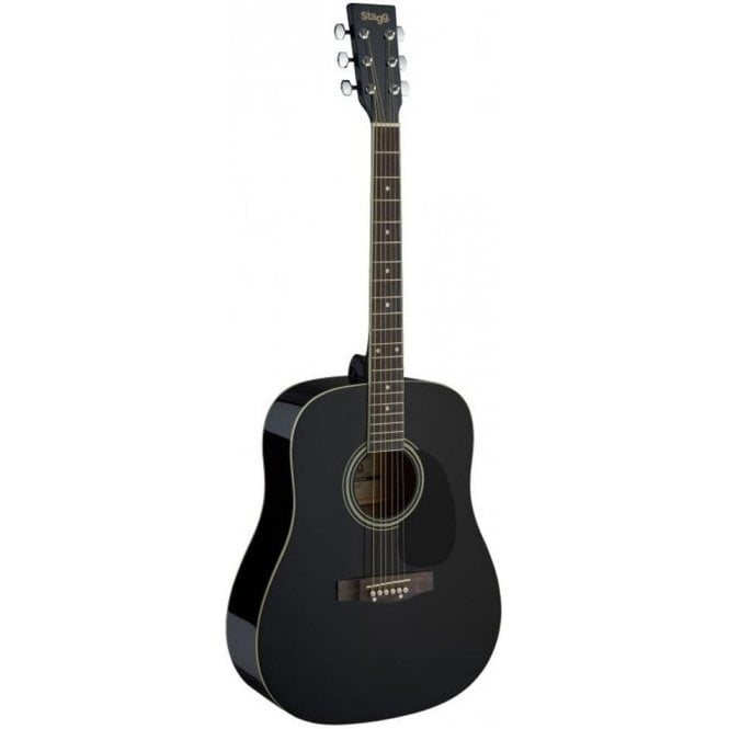 Stagg Acoustic Dreadnought Guitar - Black