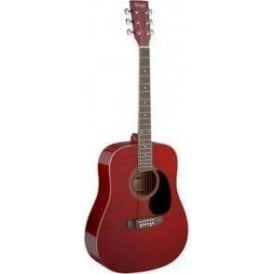 Stagg Acoustic Dreadnought Guitar - Red