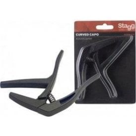 Stagg Acoustic or Electric Guitar Capo - Black Finish