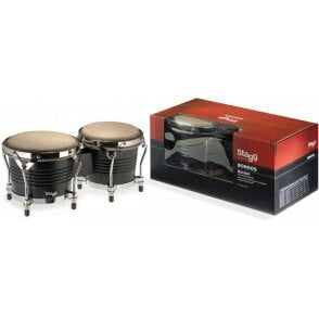 Stagg BW200 Bongos Black Finish bw200bk | Buy at Footesmusic