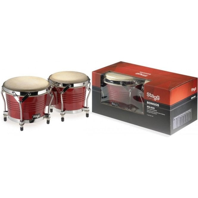 Stagg BW200 Bongos Cherry Finish BW200CH | Buy at Footesmusic