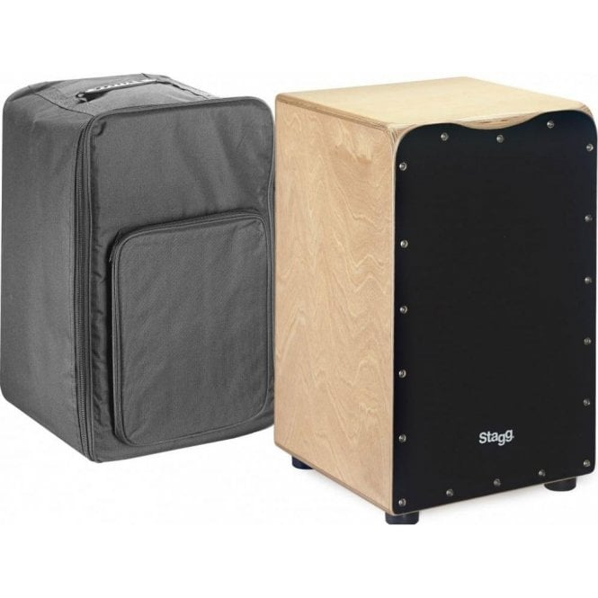 Stagg Cajon Black Finish Including Padded Gig Bag