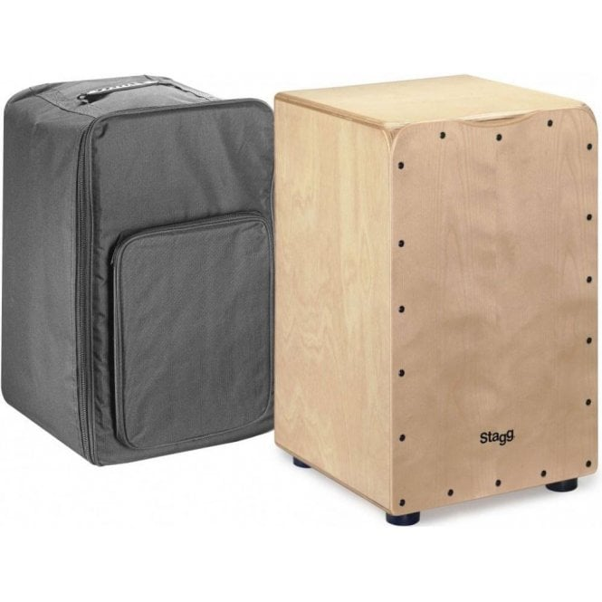 Stagg Cajon Natural Finish Including Padded Gig Bag