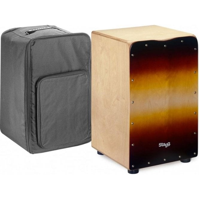 Stagg Cajon Sunburst Finish + Gig Bag CAJ50MSB | Buy at Footesmusic
