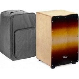 Stagg Cajon Sunburst Finish Including Padded Gig Bag