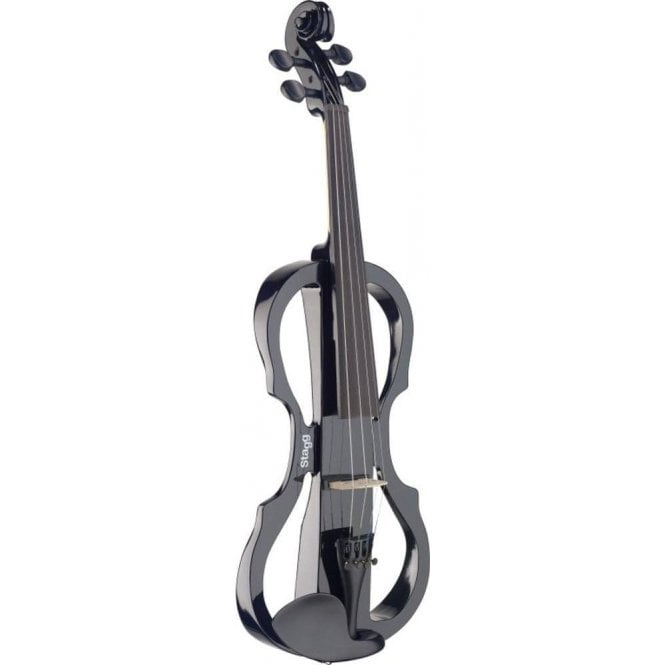 Stagg Electric Violin Outfit - Black EVNX44BK