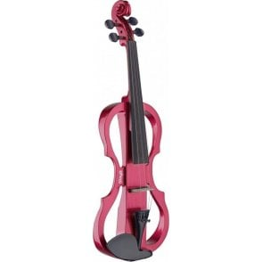 Stagg Electric Violin Outfit - Metallic Red EVNX44MRD
