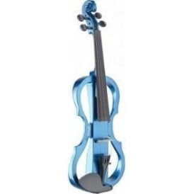 Stagg Electric Violin Outfit - Metallice Blue EVNX44MBL