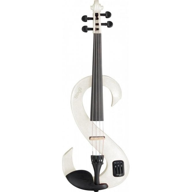 Stagg Electric Violin Outfit - White
