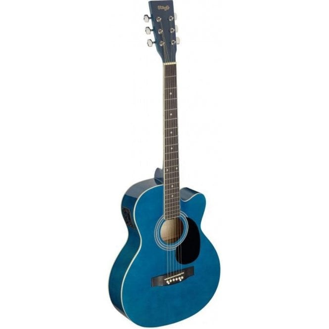 Stagg Electro Acoustic Auditorium Cutaway Guitar - Blue
