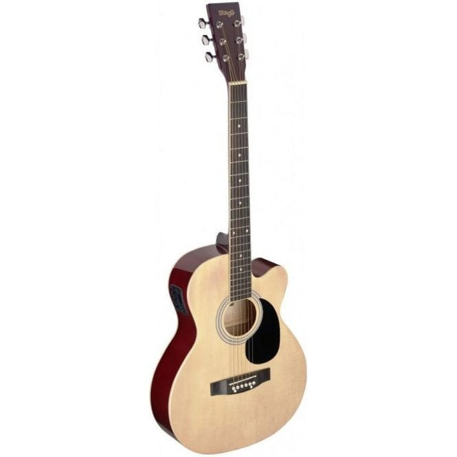 Stagg Electro Acoustic Auditorium Cutaway Guitar - Natural