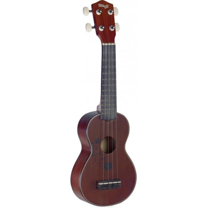 Stagg Soprano Ukulele - Flower Design