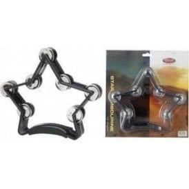 Stagg Star Shape Tambourine - Black