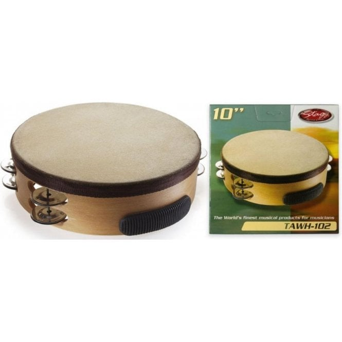 "Stagg Tambourine - 10"" With Head"