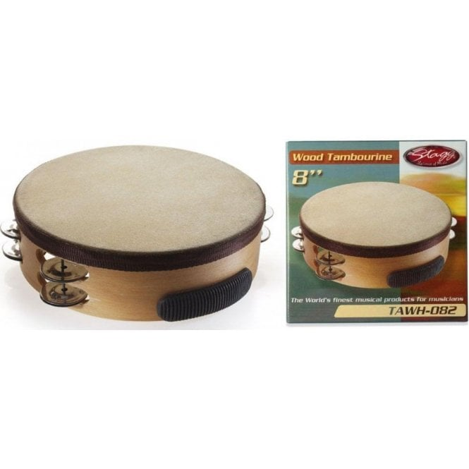 """Stagg Tambourine - 8"""" With Head"""