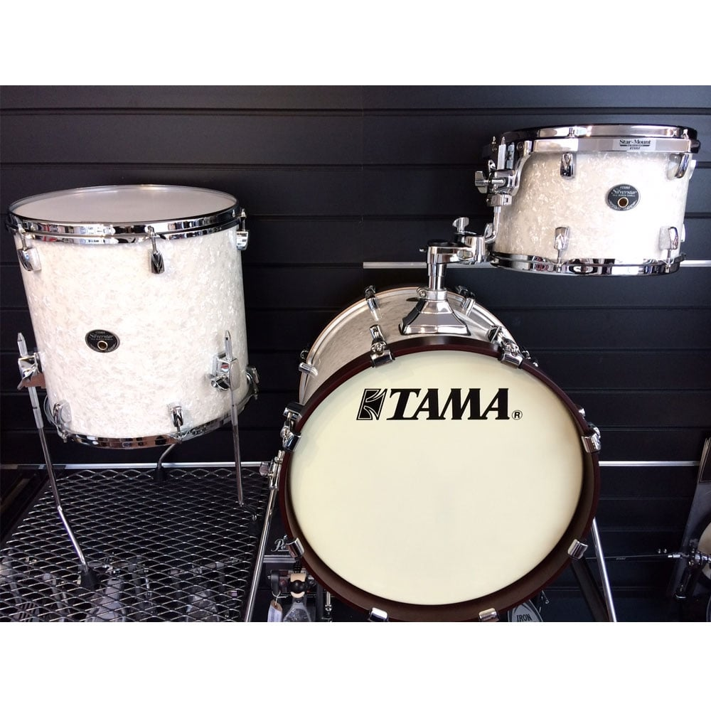 Tama silverstar white marine pearl drum kit at uk stockist for Classic house drums