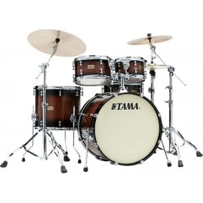 "Tama SLP 4 Drums ""Dynamic Kapur"" - Gloss Black Kapur Burst Finish 
