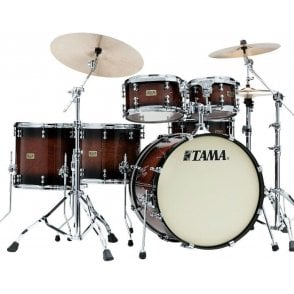 "Tama SLP 5 Drums ""Dynamic Kapur"" - Gloss Black Kapur Burst Finish 