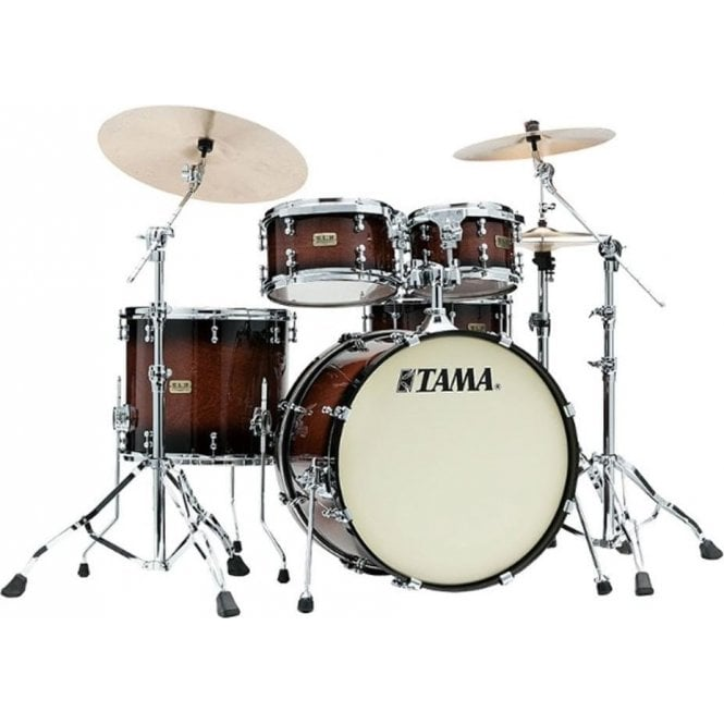 "Tama SLP Drum Kit 4 Drums ""Dynamic Kapur"" - Gloss Black Kapur Burst Finish"