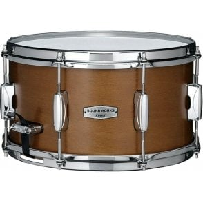 "Tama Soundworks 13"" x 7"" Kapur Snare Drum - Matte Brown Kapur Finish DKP137MRK 