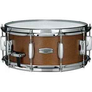"Tama Soundworks 14"" x 6"" Kapur Snare Drum - Matte Brown Kapur Finish DKP146MRK 