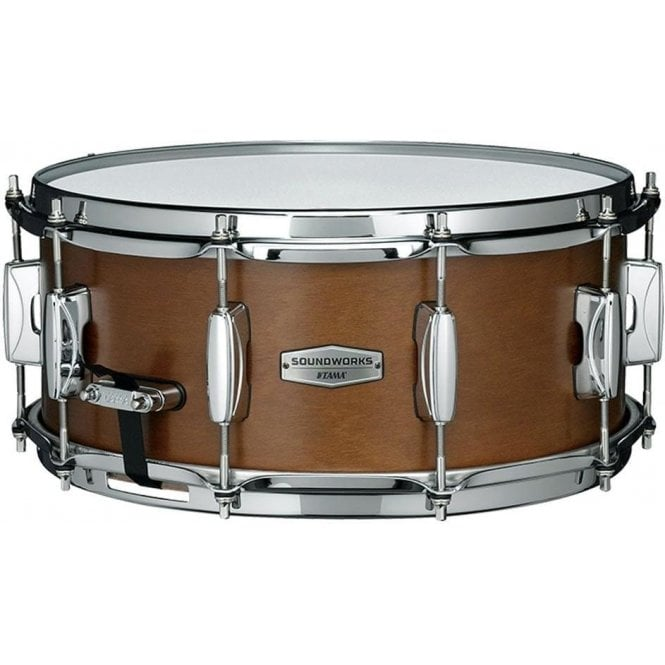 "Tama Soundworks 14"" x 6"" Kapur Snare Drum - Matte Brown Kapur Finish"