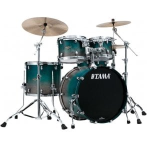 Tama Starclassic Walnut/Birch 4 Drums - Satin Saphire Fade | Buy at Footesmusic