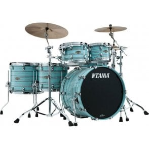 Tama Starclassic Walnut/Birch 5 Drums - Lacquer Arctic Blue Oyster | Buy at Footesmusic