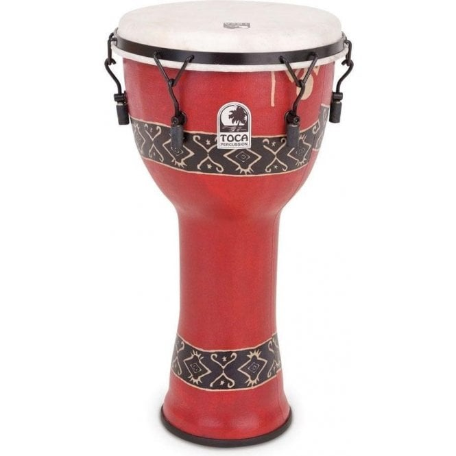 """Toca Freestyle Bolt Tuned 12"""" Djembe - Bali Red Finish"""