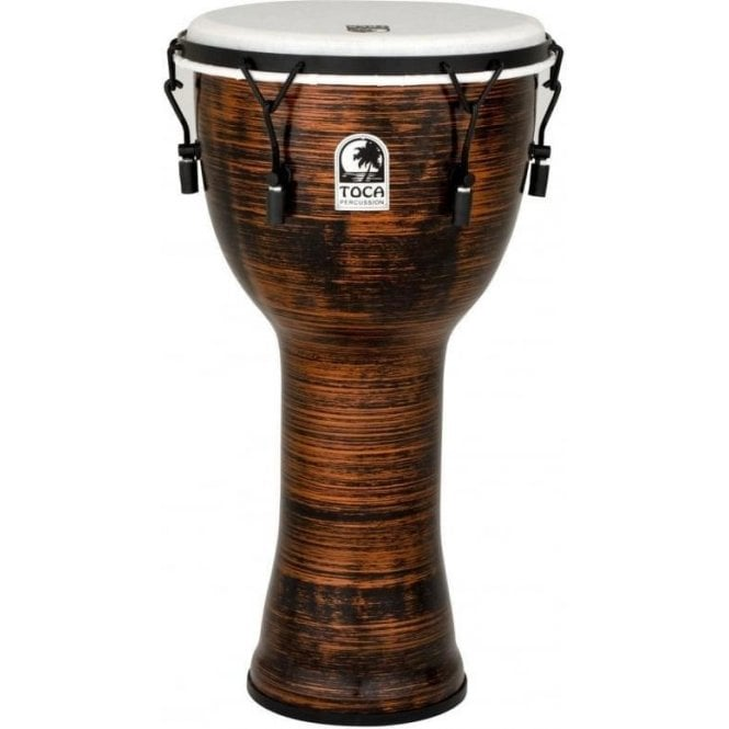 "Toca Freestyle II Bolt Tuned 12"" Djembe - Spun Copper Finish"