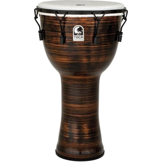 "Toca Freestyle II Bolt Tuned 14"" Djembe & Bag Spun Copper TF2DM14SCB 