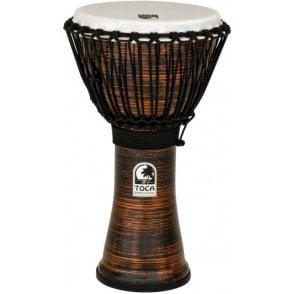 "Toca Freestyle II Rope Tuned 10"" Djembe Spun Copper TF2DJ10SC 