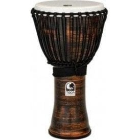 "Toca Freestyle II Rope Tuned 12"" Djembe - Spun Copper Finish"