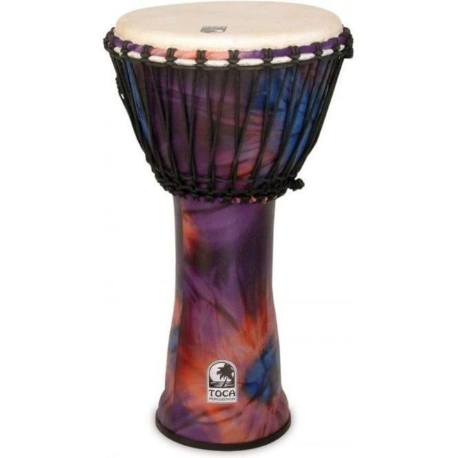 "Toca Freestyle Rope Tuned 10"" Djembe - Woodstock Purple Finish"
