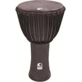 "Toca Freestyle Rope Tuned 14"" Djembe & Bag - Black Mamba Finish"