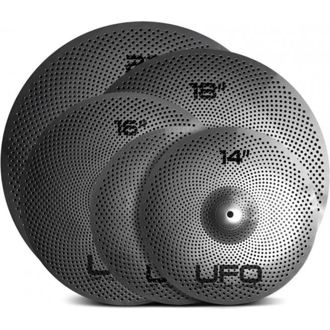 UFO Cymbals Low Volume Cymbal Set 2 (14/16/18/20) & Cymbal Bag UFOSET2 | Buy at Footesmusic