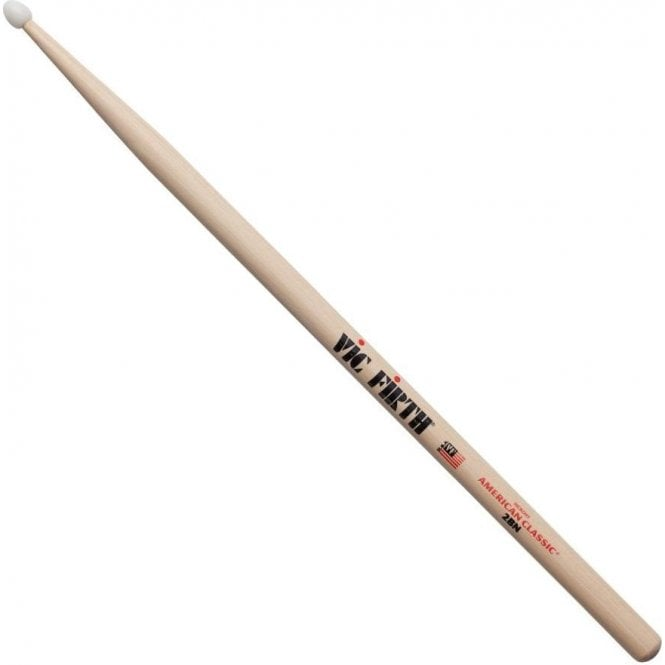 Vic Firth Hickory 2B Nylon Tip Drum Sticks (pair)